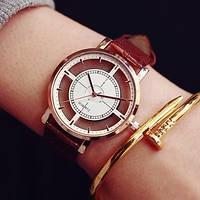 Наручные часы прозрачные Liner brown