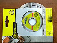 Круг отрезной алмазный DT600U Klingspor 125*2,4*22,23 мм 15 сегментов 20*2,4*9 мм короткозубчатый