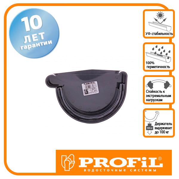 Заглушка ринви Profil ліва L 130 графітова
