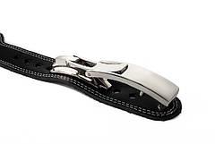 Пояс кожаный атлетический 60/120 мм, карабин, двухслойный XS (50-70 cм)