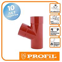 Трійник Profil 100/100/67 130 цегляний
