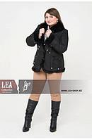 Теплая женская куртка большого размера с кроликом, фото 1