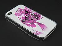 Чехол TPU Diamond для Apple iPhone 4 4s Девушка