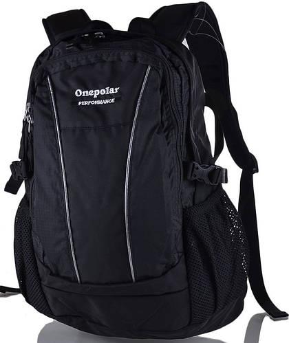 Молодежный небольшой рюкзак 15 л. Onepolar (Ванполар) W1601-black черный