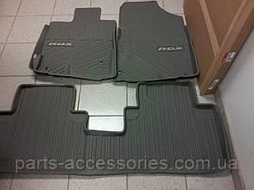 Коврики резиновые серые передние задние Acura RDX 2009-12  новые оригинал