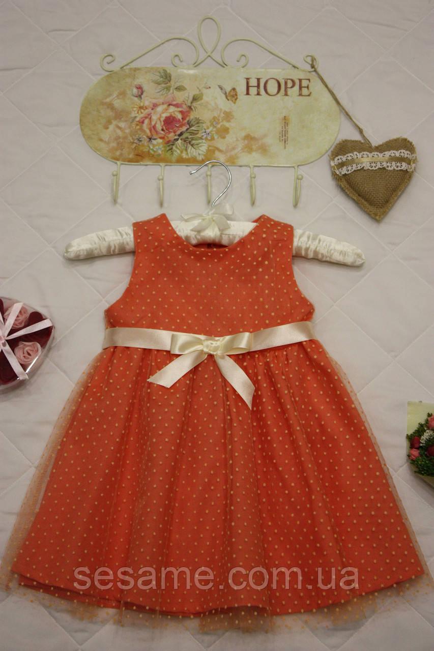 Нарядное детское Платье на праздник Персик