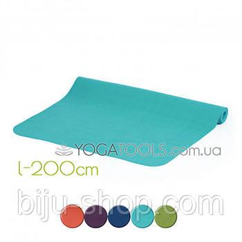 Коврик для йоги ECOPRO XL, каучук, BODHI, Германия, 200x61cm, 4mm