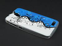 Чехол Diamond TPU с рисунком для Lenovo A319 бело синий принт