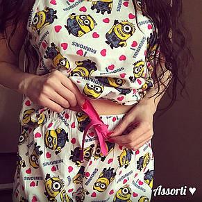 Женский летний костюм Миньоны, фото 2