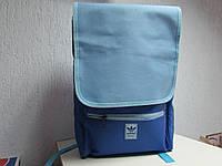 Рюкзак синий с голубым Adidas 77226 код 349А