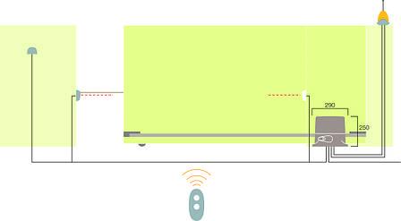 Автоматический привод для откатных ворот RD 400 KCE, фото 2