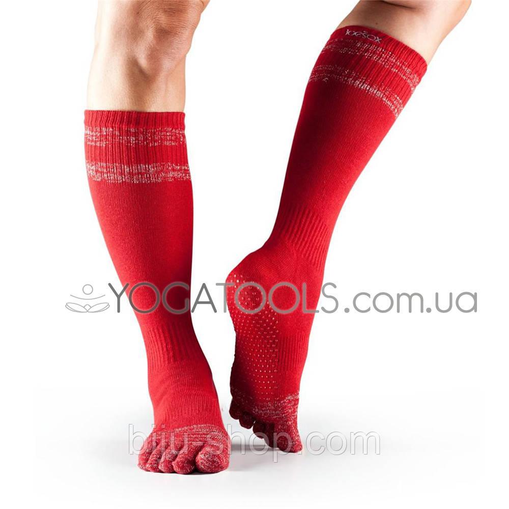 Носки для йоги нескользящие BLACK LONG, мужские (44-46р.), TOESOX, USA