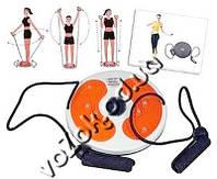 Диск здоровья акупунктурный с магнитами и с эспандерами для рук Грация Плюс Waist twisting disc with ropes, фото 1