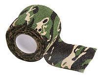 Камуфлированная лента для ружья 5см х 4.5м (лес)