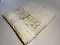 Крыжма для крещения vende 70*140 золото #S/H