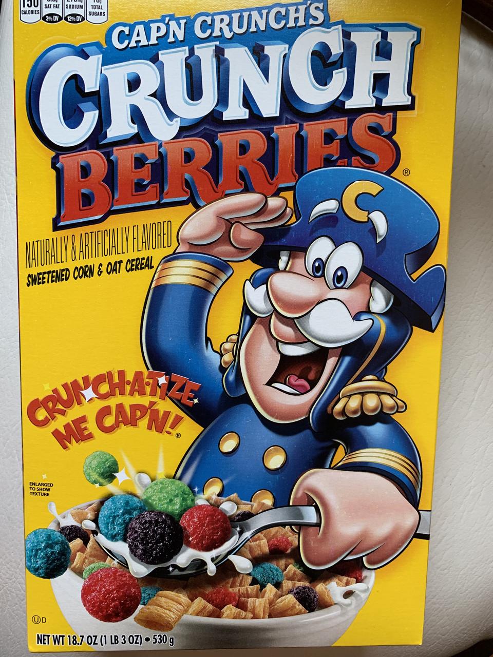 Сухой завтрак с цветными пафсами Cap'n Crunch's Crunch Berries