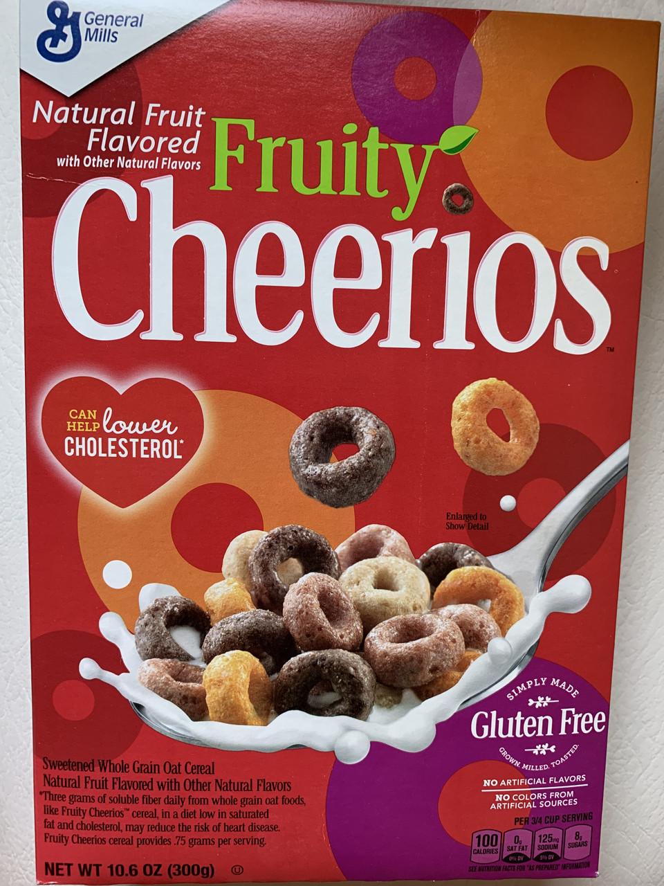 Сухой завтрак овсяные колечки с фруктовыми вкусами Fruity Cheerios