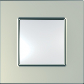 Рамка 1 пост. Unica Quadro Metallized Титан MGU6.702.57
