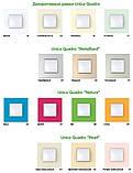 Рамка 1 пост. Unica Quadro Metallized Титан MGU6.702.57, фото 3