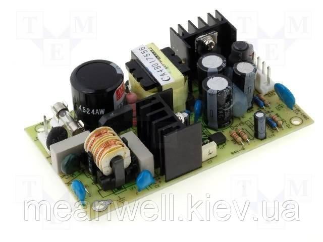 PS-25-5 Блок питания Mean Well  Открытого типа 25 Вт, 5 В, 5 А (AC/DC Преобразователь)