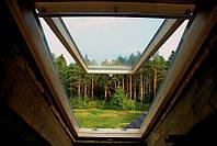 Мансардное окно Велюкс (VELUX) GZL 1073 B Эконом с нижней ручкой открывания 78x98