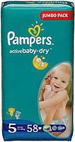 Подгузники Pampers Active Baby-Dry Junior 5 (11-25кг) 58шт Jumbo Pack