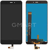 Дисплей для Xiaomi Redmi Note 4 черный (LCD экран, тачскрин, стекло в сборе), Дисплей Xiaomi Redmi Note 4 чорний (LCD екран, тачскрін, скло в зборі)