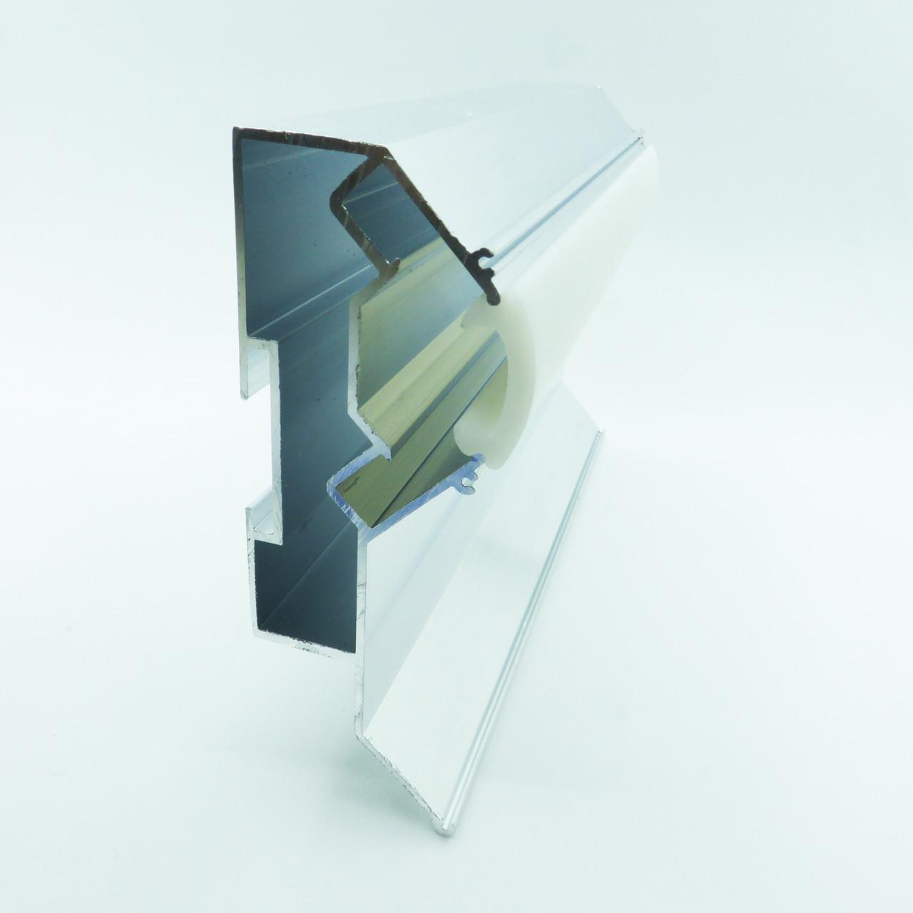 Профиль алюминиевый для натяжных потолков - двухуровневый ПЛ-75 №2, с подсветкой, с линзой. Длина профиля 2,5 м.