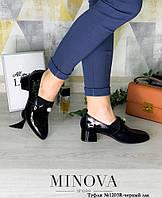 Туфли женские №1203R-черный лак, фото 1