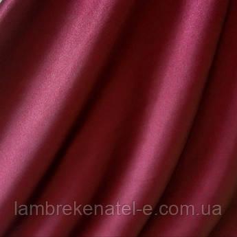Ткань портьерная бордовая для штор, Шанзализе, производства Турции