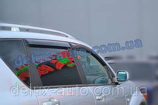 Ветровики Cobra Tuning на авто Ssang Yong Rexton I 2002-2007 Дефлекторы окон Кобра Санг Йонг Рекстон II с 2007