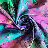 10707-15, павлопосадский платок на голову хлопковый (саржа) с подрубкой, фото 6