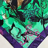 10707-15, павлопосадский платок на голову хлопковый (саржа) с подрубкой, фото 7