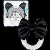 Резинка-браслет для волос с бантом атласным invisibobble BOWTIQUE Черная