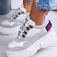 Серые женские кроссовки, фото 1