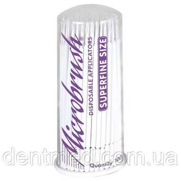 Микроаппликаторы короткие Microbrush Original - Super Fine 100шт/уп NaviStom