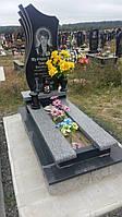 Новий жіночий памятник із сірим квітником граніту