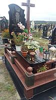 Новий комбінований памятник із квітником та огорожа граніту