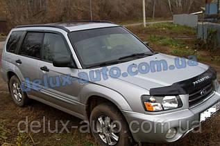 Ветровики Cobra Tuning на авто Subaru Forester II 2002-2008 Дефлекторы окон Кобра для Субару Форестер 2 2002