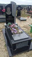 Комбінований памятник із квітником сірого граніту