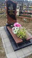 Ексклюзивний жіночий пам'ятник з граніту лізник габро