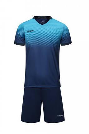 Футбольная форма Europaw 024 т.сине-голубая, фото 2
