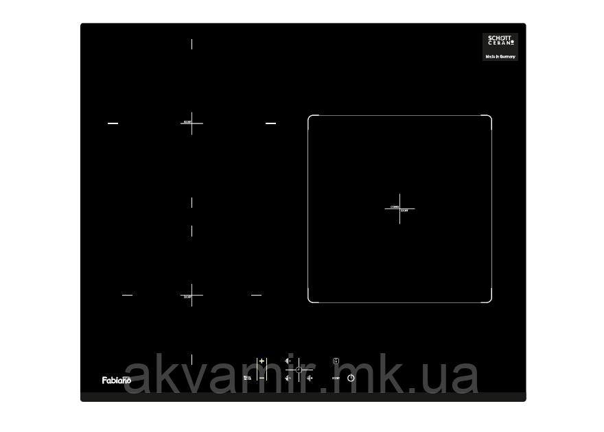 Варочная панель Fabiano FHI 2933 VTC индукционная (стеклокерамика)