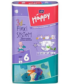 Подгузники Bella Happy Junior Extra 6 (16+кг.) BIG PACK 54шт.