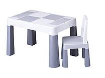 910 Комплект детской мебели Tega Baby MULTIFUN (стол + стульчик) Grey