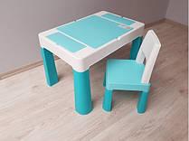 910 Комплект детской мебели Tega Baby MULTIFUN (стол + стульчик) Turkus