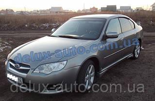 Ветровики Cobra Tuning на авто Subaru Legacy IV Sd 2003-2009 Дефлекторы окон Кобра для Субару Легаси 4 седан