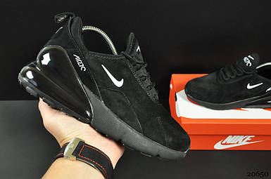 Кроссовки Nike Air Max 270 арт 20650(черные, найк)