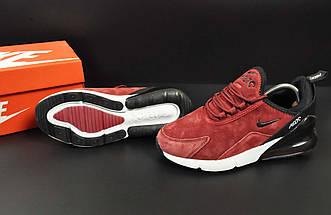 Кроссовки Nike Air Max 270 арт 20648 (женские, бордовые, найк), фото 3