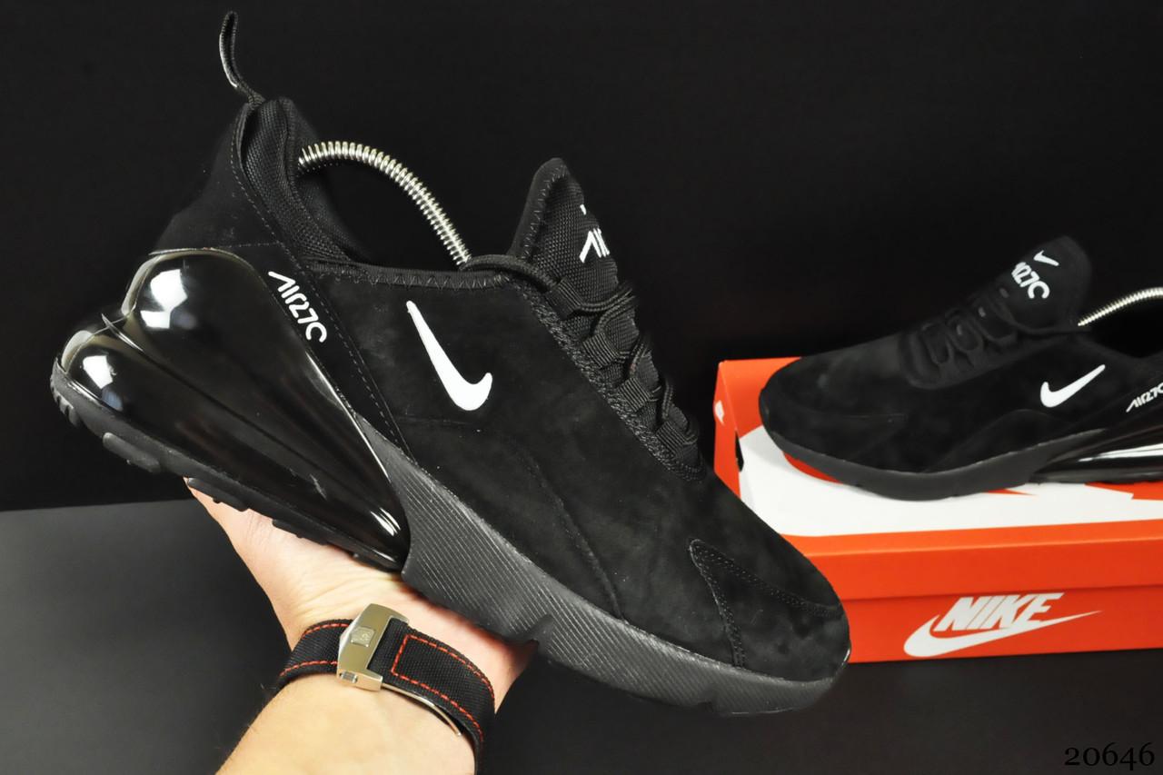 Кроссовки Nike Air Max 270 арт 20646 (мужские, черные, найк)
